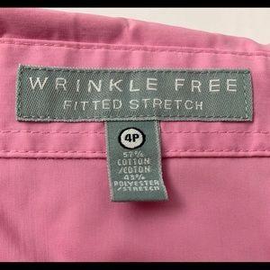 Foxcroft Tops - Foxcroft 4P pink wrinkle free dress shirt